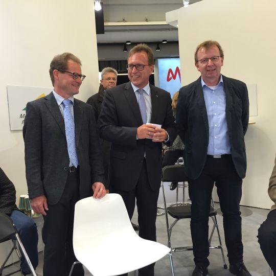 v. l. Christoph Trinemeier, Ralph Schlusche, Matthias Baaß bei der Begrüßung